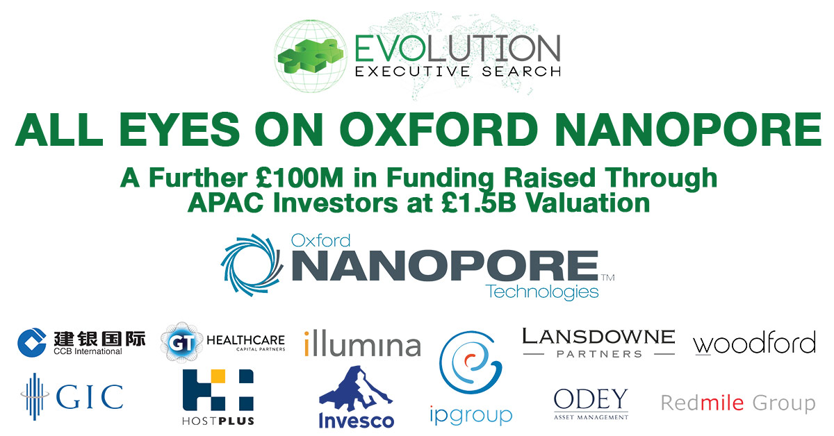 All Eyes on Oxford Nanopore after further £100m funding raised at £1.5B Valuation